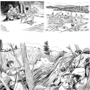 "3 of a series of 80 interior illustrations for the book ""What Was the Lewis & Clark Expedition?"" for Penguin Young Readers. Click on the image to see a larger version."