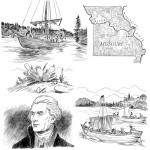"5 of a series of 80 interior illustrations for the book ""What Was the Lewis & Clark Expedition?"" for Penguin Young Readers. Click on the image to see a larger version."