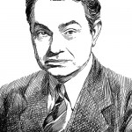 unpublished pen & ink portrait of Edward G. Robinson, 2011