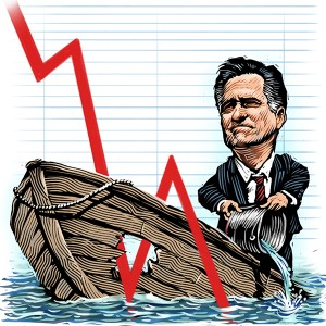 Post election illustration of Mitt Romney for Barrons, 2012. Click on image to see larger version.