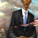 self promo piece, portrait of Barack Obama, 2008