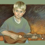 Pastel child portrait, 2010